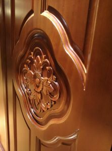 Midle East Style Interior Wood Door with Carving (DS-8011) pictures & photos