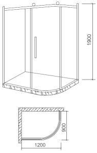 Factory Direct Sale Aluminium Alloy Shower Enclosure with Shelf (BL-Z3508) pictures & photos