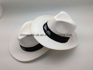 White Panama Fedora Paper Straw Hats (CPA_90052) pictures & photos