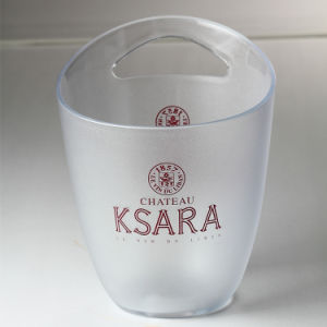 Clear Plastic Ice Bucket Wholesale for Ice Cream Bucket pictures & photos