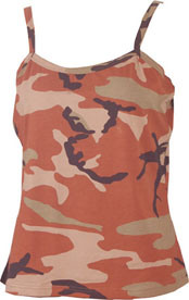 100% Cotton Reactive Print Camo Ladies Vest Outdoor
