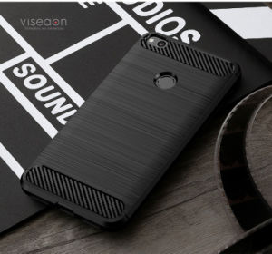 Brushed TPU Carbon Fiber Phone Case for Huawei P8 Lite (2017) Honor 8 Lite pictures & photos