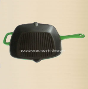 Enamel Cast Iron Skillet Manufacturer From China pictures & photos