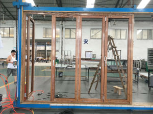 Double Glazing Aluminium Glass Folding/Bifold Door/Bifolding Door pictures & photos