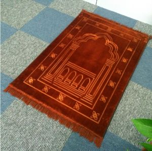 Thickness Raschel Emboss Prayer Mat Carpet