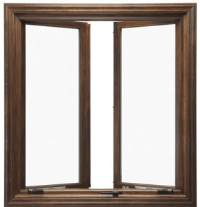 Wood Grain Aluminum Casement Window pictures & photos