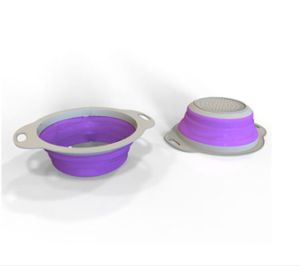 Hot Selling New Style Collapsible Silicone Colander pictures & photos