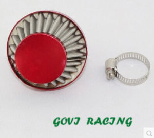 12mm Red Air Filter with Stainless Steel for Trubo Sport Air Intake Fllter Pipe pictures & photos