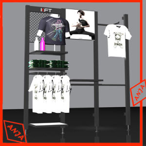 Modern Clothes Rail Stand Rack with Two Storage Shelves pictures & photos