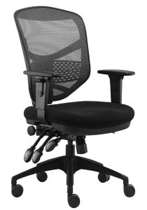 Modern Back Cushion Office Chair with Headrest Swivel Computer Nylon High Base Office Chair (LDG-840A) pictures & photos