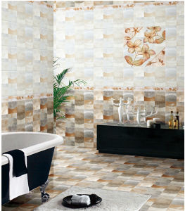 Waterproof 6D-Inkjet Glazed Interior Porcelain Wall Tile for Bathroom (6317) pictures & photos