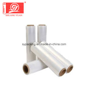 100%Virgin Material Line Low Density 9mic-35mic LLDPE Stretch Film pictures & photos