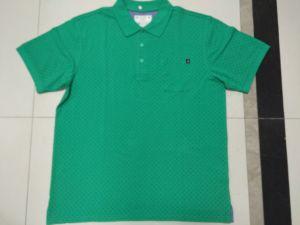 Big Men′s Yardage Printed Polo with Pocket