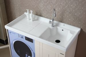 Oak Wood Bathroom Washing Cabinet pictures & photos