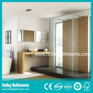 High Class Walkl-in Shower Set with Tempered Laminated Glass (SE929C)