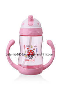 370ml Plastic Drinking Water Bottle Baby Bottle with Straw BPA Free Bottle, Cute Kids Water Bottle pictures & photos
