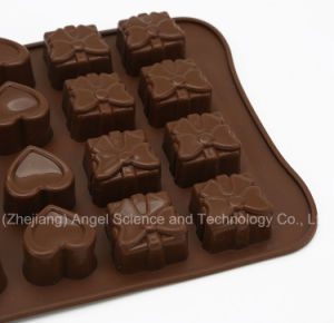 24-Cavity Rose, Love and Gift Box Silicone Cake Tool Si25 pictures & photos