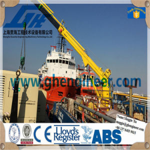 Launching and Recovery Winch Hoisting Ship Deck Crane pictures & photos