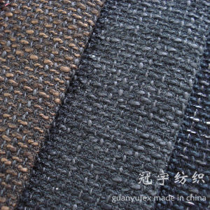 Fr Polyester Linen Fabric with Compound Backing Coated pictures & photos