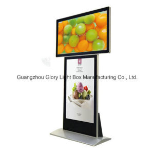 Air Port or Metro Station Floor Standing Double Side Advertising Screen pictures & photos