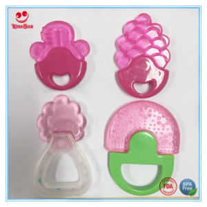 Food Grade Infant Teething Toys with Rattle Handle pictures & photos