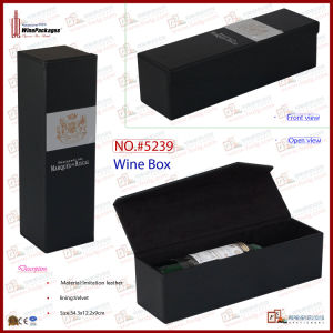 Wooden Wine Bottle Packing Box with Metal Plate (5239) pictures & photos