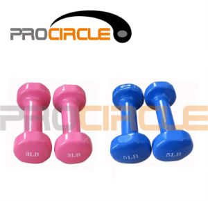High Quality Portable Solid Vinyl Dipping Dumbbells (PC-DU3013-3024) pictures & photos