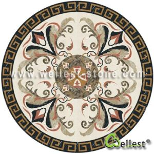 Water Jet Marble Mosaic Pattern Honeycomb Medallion pictures & photos