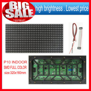 P10 SMD Indoor 1 Unit LED Module Size Is 320*160mm 32*16 Pixels 1/4 Scans for Full Color Programmable LED Scrolling Display pictures & photos