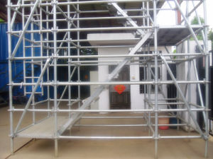 En12810 Ringlock Metal Movable Working Platform Scaffolding System pictures & photos