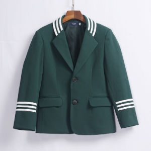 Stylish Design Plaid Winter School Uniform Wool Blazer pictures & photos