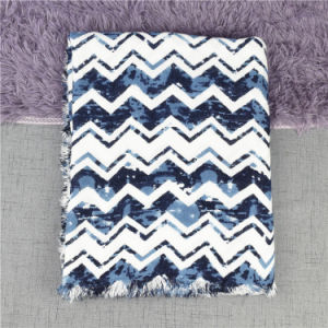 Women Cashmere Like Acrylic Chevron Oversized Wave Print Scarf Shawl pictures & photos