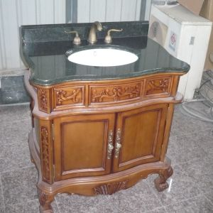 Cheap Antique Green Granite Bathroom Vanity Cabinet pictures & photos