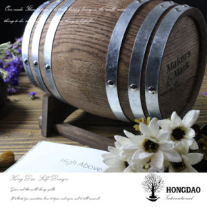 Hongdao Custom Wooden Personalized Pine Oak Paulownia Wine Barrel Mailbox_E pictures & photos