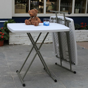 Adjustable Plastic Study Folding Table (SY-32SJ) pictures & photos