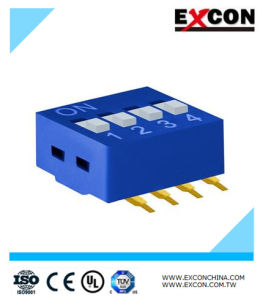 Electronic DIP Switch 4 Way Position Excon Ri-04-B Safety Certification pictures & photos