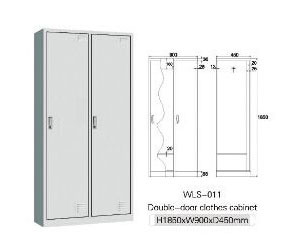 Office Furniture Locker Clothes Cabinet with 2 Doors Hs-009