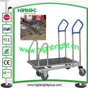 Supermarket Heavy Duty Transport Trolley for Warehouse pictures & photos