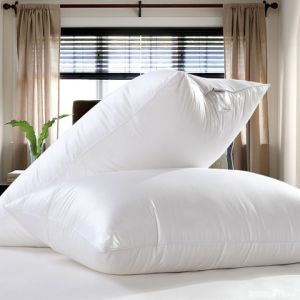Soft & Medium Down Alternative Microfiber Pillow with Cotton Fabric pictures & photos