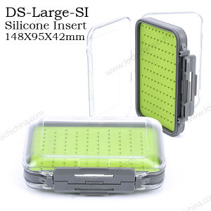 New Silicone Insert Waterproof Wholesale Plastic Fly Fishing Box pictures & photos