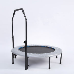 Fitness 48′′ Round Colorful Trampoline Mini Trampoline with Handrail pictures & photos