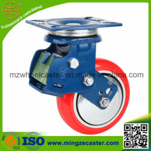 Medium Heavy Duty Shock Absorption Caster with PU Wheel pictures & photos