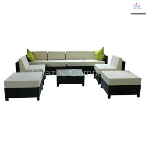 Hot Sell -Rattan Wicker Sofa Table Cushioned Garden Patio Furniture Set pictures & photos