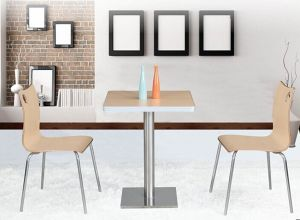 Indoor Furniture Modern Square Dining Table (FOH-BC08) pictures & photos