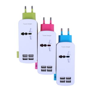 EU Plug 4 Ports AC Power Strip Travel USB Charger pictures & photos
