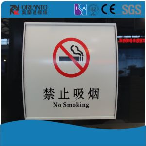 No Smoking Aluminium Sliver Wall Mounted Sign pictures & photos
