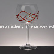 Colord Line Around Design Wine Glasses (B-WG022) pictures & photos