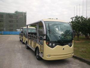 14 Seaters Electric Shuttle Bus Passenger Car with Doors pictures & photos