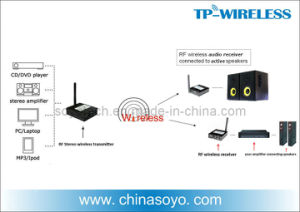 RF Stereo Wireless Transmitter Receiver Solution to DJ Gear and Loudspeaker System pictures & photos