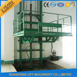Hydraulic Guide Rail Chain Lifting Cargo Lift pictures & photos